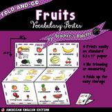 ESL/ELL Foods Vocabulary Poster—Fruits