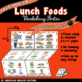 ESL/ELL Foods Vocabulary Poster—Lunch Foods