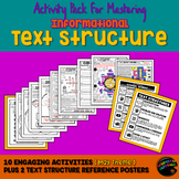 Informational Text Structure (Nonfiction Structure) Practi