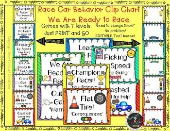 Race Car Behavior Clip Chart