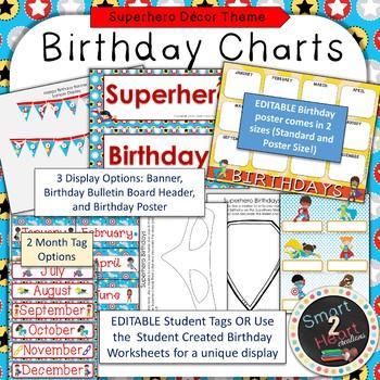 Superhero Theme Birthday Decor Set