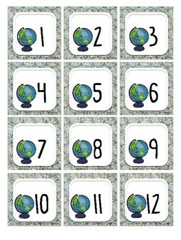 Travel Theme Calendar Set