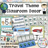 Travel Theme Classroom Decor Bundle