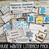 Snowman, Snowman, What do You See? Winter Emergent Reader + Matching Activities