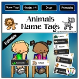 Amazing Animals Name Tags and Desk Plates {EDITABLE}
