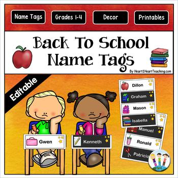 Back To School Name Tags and Desk Plates {EDITABLE}