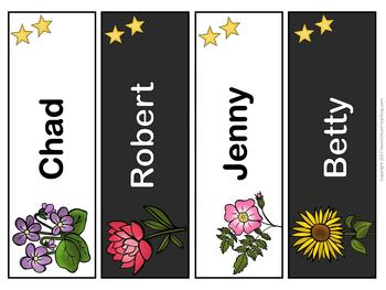 Fabulous Flowers Name Tags and Desk Plates {EDITABLE}