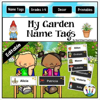 My Garden Name Tags and Desk Plates {EDITABLE}