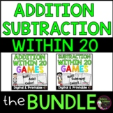 Addition and Subtraction Games Bundle (Facts to 20)