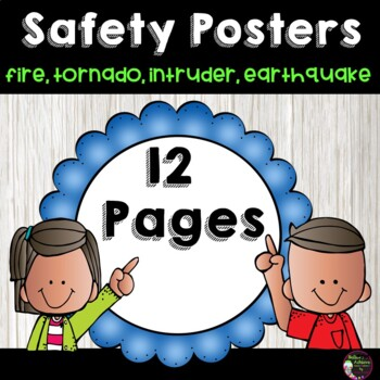 Safety Posters-Fire, Tornado, Earthquake, and Intruder