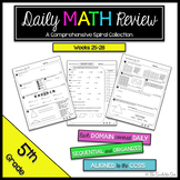 5th Grade Math Review: Weeks 25-28
