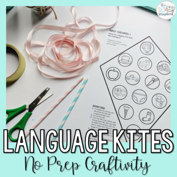 Language Goals for Speech Therapy- Language Kites- No Prep