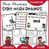 Pre-Primer Sight Word Readers (Digital & Printable)