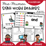 Pre-Primer Sight Word Readers (Digital & Printable)
