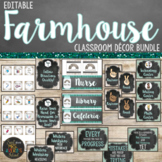 Farmhouse Classroom Decor Bundle - Editable