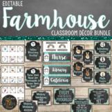 Farmhouse Classroom Theme Decor Bundle - Editable