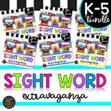 K-5 Summer Themed Sight Word Color by Code Printables