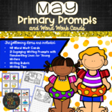 May PRIMARY Writing Prompts and Word Work with Practice Lines