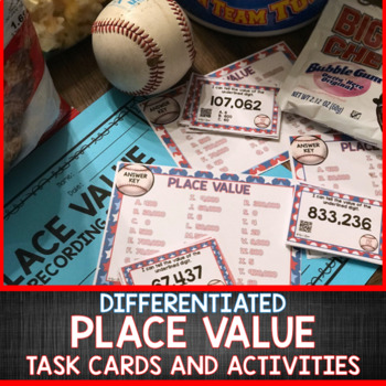 World Series Themed Place Value Task Cards