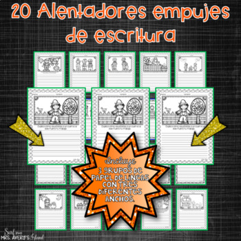 Spanish October Writing Prompts and Word Work