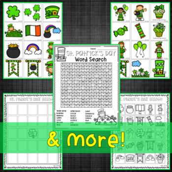 St. Patrick's Day:  Math and ELA Activities