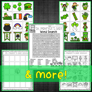 St. Patrick's Day Math and ELA Activities March Centers