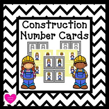 Construction Number Cards 1-30