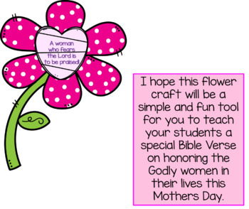 Mothers Day Flower Card Craft with Bible Verse