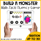 Back To School Math Facts Fluency Game (Addition up to 20)