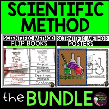 BUNDLE Scientific Method Flip Books and Posters