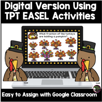 Fraction Task Cards (Parts of a Set)- Thanksgiving