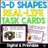 3D Shapes (Real-life) Task Cards