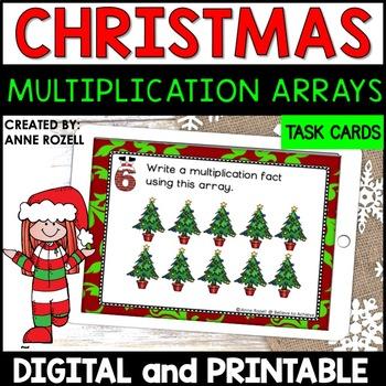 Multiplication Array Task Cards- Christmas