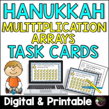 Multiplication Array Task Cards- Hanukkah
