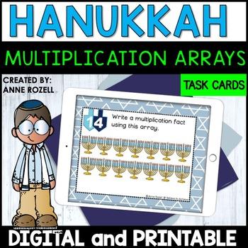 Multiplication Array Task Cards- Hanukkah