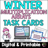 Multiplication Array Task Cards- Winter Theme