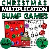 Multiplication Bump Games (Christmas themed)