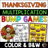 Multiplication Bump Games (Thanksgiving themed)