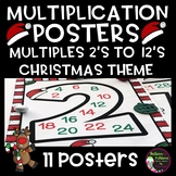 Multiplication Posters with Multiples 2's to 12's (Christmas Theme)