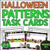 Pattern Task Cards -(Halloween Theme) FREE