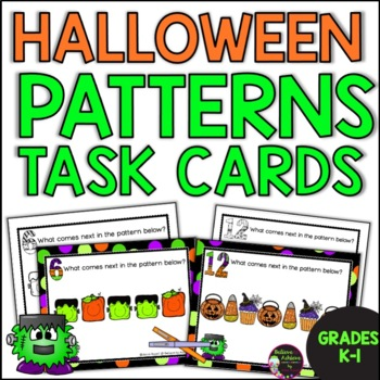 Pattern Task Cards with Halloween Theme