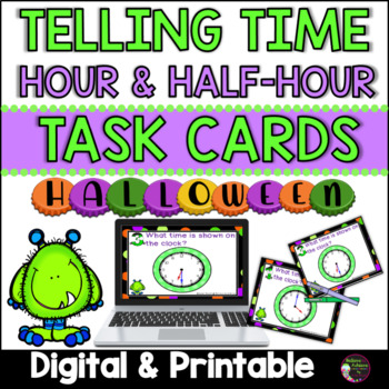 Telling Time (hour and half hour) Halloween theme
