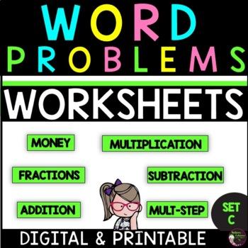 Word Problems for Third Grade-SET C!