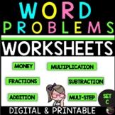 Word Problems for Third Grade-SET C! Over 100 Problems!