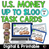Money- Counting U.S. Coins up to a Dollar- Set B