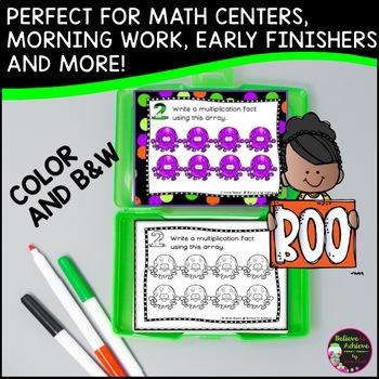 Multiplication Array Task Cards- Halloween Theme
