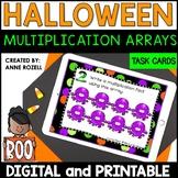 Multiplication Array Task Cards | Halloween Math | Digital and Printable