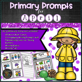 April PRIMARY Writing Prompts and Word Work