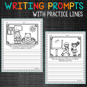 February PRIMARY Writing Prompts and Word Work