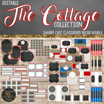 Shabby Chic Cottage Collection Classroom Decor Editable